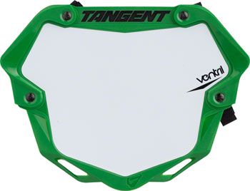 Tangent Ventril 3D Large Number Plate Neon Green with White Insert