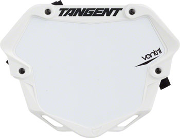 Tangent Ventril 3D Large Number Plate White with White Insert