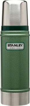 Stanley Classic Vacuum Insulated Bottle: Hammertone Green, 16oz