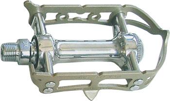 MKS Sylvan Prime Road Pedals 9/16 Toe Clip Compatible Alloy Silver