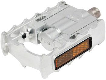 MKS FD-7 Folding Platform Pedals 9/16 Alloy Silver