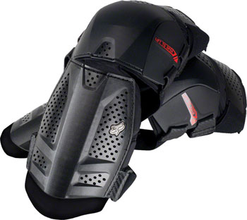 Fox Racing Launch Protective Knee and Shin Shorty Guard: Pair Black One Size