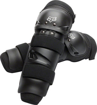 Fox Racing Launch Sport Protective Knee and Shin Guard: Pair Black One Size