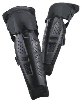 Fox Racing Launch Protective Knee and Shin Guard: Pair Black LG/XL