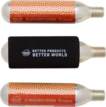 Planet Bike 12g Threaded CO2 Cartridges: 3-Pack