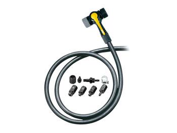 Topeak TwinHead Schrader/Presta Valve Adaptor with 38 Hose: Retrofits Most Pumps