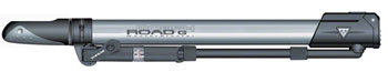 Topeak Road Morph Frame Pump with Gauge: Silver/Black