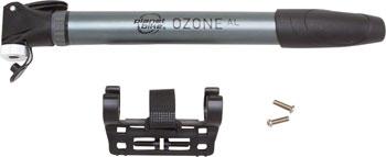 Planet Bike Ozone ATB Alloy Frame Pump: Presta/Schrader, Silver/Black