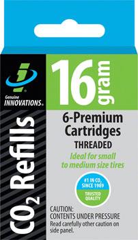 Genuine Innovations 16gram Threaded CO2 Cartridges: 6-Pack