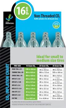 Genuine Innovations 16gram Threadless CO2 Cartridges: Box of 20