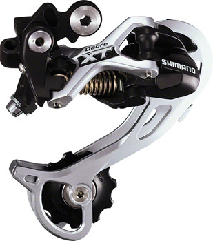 Shimano XT RD-M772-GS Rear Derailleur - 9 Speed, Medium Cage, Black/Silver