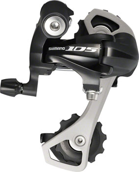 Shimano 105 RD-5701-GS Rear Derailleur - 10 Speed, Medium Cage, Black