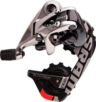 SRAM Red Rear Derailleur - 10 Speed, Short Cage, Black/Silver