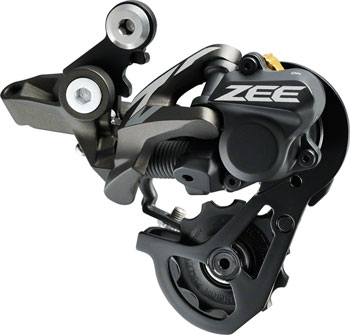 Shimano ZEE RD-M640-SSW Rear Derailleur - 10 Speed, Short Cage, Gray