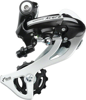 Shimano Acera RD-M360-SGS Rear Derailleur - 7,8 Speed, Long Cage, Black