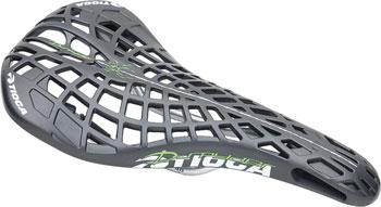 Tioga D-Spyder BMX Saddle, Hollow Chromoly Rails Black