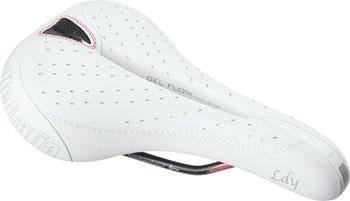 Selle Italia Lady Gel Flow Women's Saddle: L2, White