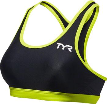 TYR Competitor Racerback Women's Bra: Black/Lime SM