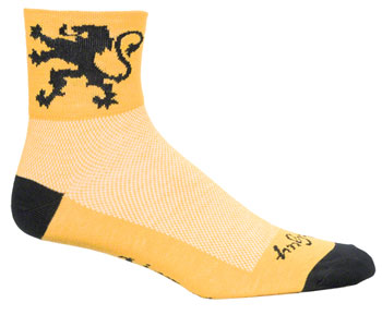 SockGuy Classic Lion of Flanders Sock: Yellow SM/MD