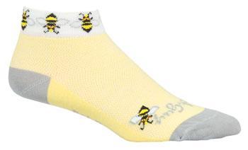 SockGuy Classic Bees Women's Sock: Yellow SM/MD