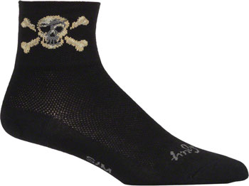 SockGuy Classic Pirate Sock: Black SM/MD