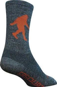 SockGuy Wool Sasquatch Sock: Gray SM/MD