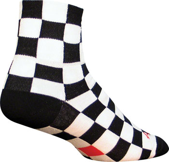 SockGuy Classic Ridgemont Sock: Black/White Checker SM/MD