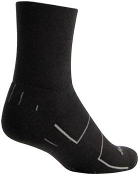 SockGuy Wool Wooligan Sock: Black LG/XL