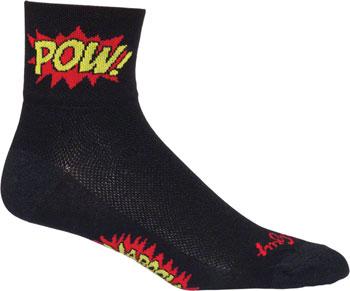 SockGuy Classic Boom Pow Sock: Black SM/MD