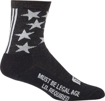 Surly 1st Ave 5 Wool Sock: Black, SM