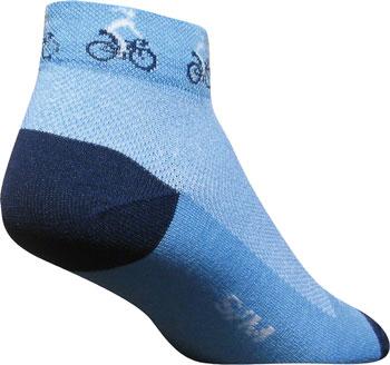 SockGuy Classic Ponytail Women's Sock: Blue SM/MD