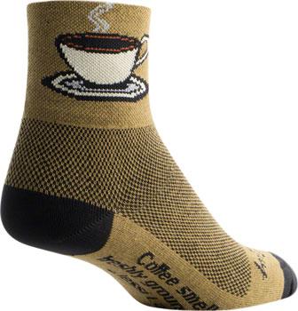 SockGuy Classic Java Sock: Brown SM/MD