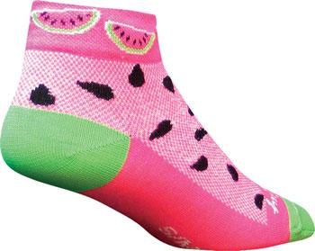 SockGuy Classic Watermelon Women's Sock: Pink SM/MD