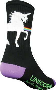 SockGuy Crew Unicorn Express Sock: Black SM/MD