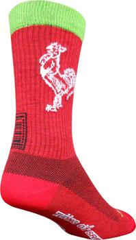 SockGuy Wool Sriracha Sock: Red SM/MD