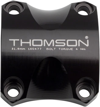 Thomson Replacement X4 Stem Faceplate: Bar Clamp 31.8 Black