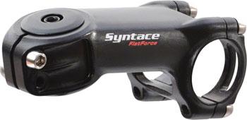 Syntace Flatforce Stem: 31.8mm Clamp, 1-1/8 Steerer, 77mm Length, -18 degree, -12mm Drop, Black
