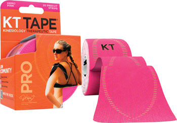 KT Tape Pro Kinesiology Therapeutic Body Tape: Roll of 20 Strips, Hero Pink