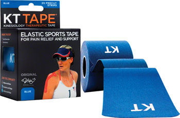 KT Tape Kinesiology Therapeutic Body Tape: Roll of 20 Strips, Blue