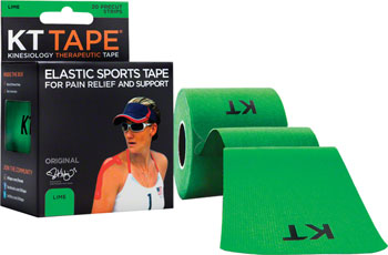 KT Tape Kinesiology Therapeutic Body Tape: Roll of 20 Strips, Lime