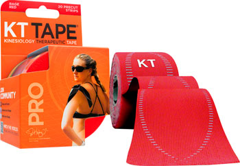 KT Tape Pro Kinesiology Therapeutic Body Tape: Roll of 20 Strips, Red
