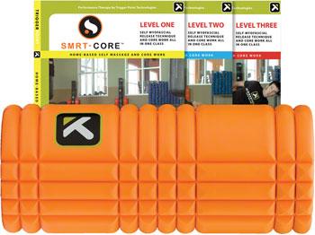 Trigger Point Ultimate Grid Roller and 3 DVD Package: 13-inch Roller Orange