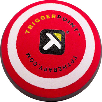 TriggerPoint MBX Massage Ball: 2.6 Diameter, Black/Red
