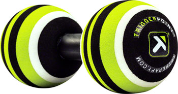 TriggerPoint MB2 Massage Ball Roller: 2.6 Diameter Balls, Green/Black ,White