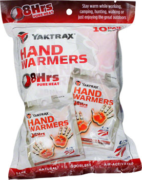 Yaktrax Warmers Hand Warmers: Pack of 10 Pair