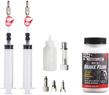 Jagwire Pro DOT Bleed Kit Includes Avid Formula Hayes Formula Hope Adaptors