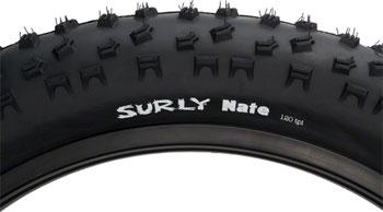 Surly Nate Tire - 26 x 3.8, Clincher, Folding, Black, 120tpi