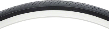 Vee Rubber Smooth Tire - 27 x 1-1/4, Clincher, Steel, Black, 27tpi