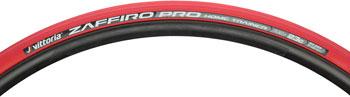 Vittoria Zaffiro Pro Home Trainer Tire: Folding Clincher, 700x23, Red