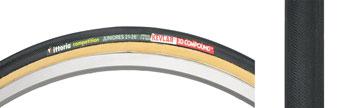 Vittoria Juniores Tire - 650 x 21, Tubular, Folding, Black/Tan, 220tpi